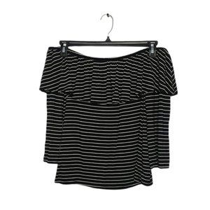 AMERICAN EAGLE striped off the shoulder top large